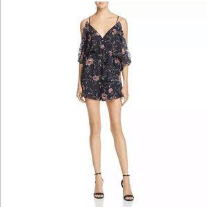 NEW Bardot Black cold shoulder Romper Size 4 / XS